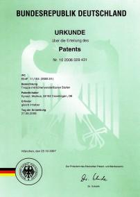 patenturkunde